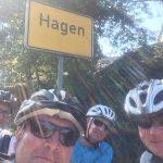 Auswärtsspiel in Hagen mit Fahrrad.