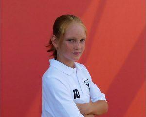 Spielerin Nora Willeke traf per Strafstoß zum 4:2-Endstand für den SVB.