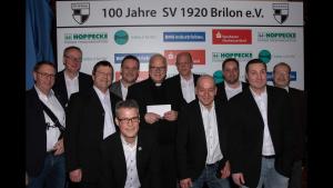 SVB Vorstand begrüßt Propst Dr. Richter.